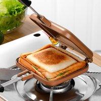 Moule à pain de gaz à gaz double face sans bâton en gaufres de grille de cuisson à pâtisserie Patisserie Fournitures de cuisine EB50HF