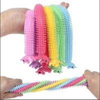 Fidget giocattoli Sensory Toy Noodle Rope TPR Stress Reliever Unicorn Malala Le Decompressione Pull Coropes Ansia Sollievo per bambini FY2630