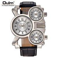 Relojes de pulsera Mens Vintage Vintage Steampunk Punk Banda de cuero Relojes 3 Zona horaria Japón Movimiento Rock Roll Style Casual Quartz Montre Homme