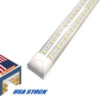V-sagomato 2ft 3ft 4ft 5ft 6ft 8ft Cooler Porta di raffreddamento Tubi a LED T8 Integrated Doppi Lati Luci 85-265V Azioni di lampadine in noi