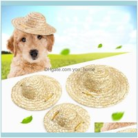 Apparel Supplies Home & Gardenzl Sell Sun Handcrafted Woven Hawaii Style Adjustable Pets Dog Puppy Caps Cute St Hat Pet Aessories Drop Deliv