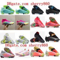 2021 최고 품질 남성 축구 신발 Cleats Mercurial Superfly Xiv Elite FG 8 VIII 아카데미 TF 축구 부츠 Scarpe Calcio