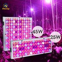 أدى النمو ضوء الطيف الكامل 25W 45W نبات الدفيئة ينمو أضواء الإضاءة الداخلية خيمة الأشعة فوق البنفسجية مصباح المجموعة