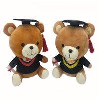 Lindo Peluche Animales Lindos Juguetes Suave Año Senior Osos Niños Habitación Decoración Graduación Presente Bebé Doll Toy 761 x2