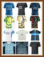 Olympique de Marseille Jersey 20 21 OM 2021 Maillot Pay Payet Thauvin Benedetto Maillots Camisa de Futebol Men + Kid Kit Terceiro