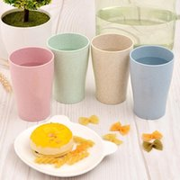 Cups & Saucers Eco Friendly Healthy Wheat Straw Biodegradable Mug Cup For Water Coffee Milk Juice Tea Household Products 4pcs