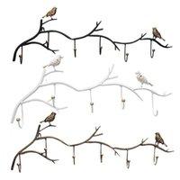 Hooks Wrought Iron Bird Door Hook Rack Clothes Robe Key Holder Mounted Hat Hanger Kitchen Wall Home Decoration & Rails
