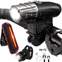 Free Ship Cycling Bike Light Set,waterproof Bike Light Front And Rear Lamp Clip Equipo de iluminación para bicicletas