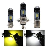 Motorcycle Headlight H4 HS1 H6 H17 P15D BA20D LED Bulbs 2colors Car Headlight Fog Light