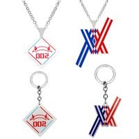 Chokers Anime DARLING In The FRANXX Cosplay Keychain Necklace Pendant Key Chain Adult COS Accessories Props Christmas Halloween