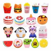 DHL Jumbo Kawaii Pommes Panda Squishy Kuchen Hirsch Milch Squeeze Toys Slow Steigende Sahne Duftstoff Antistress Kind Kind Baby Spielzeug FY2757 SE9