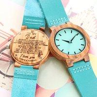 Orologi da polso orologi in legno blu orologio al quarzo uomini bambù moderno orologio da polso analogico natura legno morbido cinturino in pelle morbido regali di compleanno creativi
