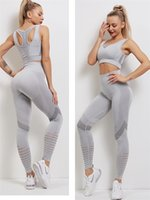 Yoga Leggings Seamless Women Sport Suit quick dry breathable Gym Workout Clothes Fitness Crop Top And Scrunch Butt Set item 80229022