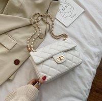 Für Perle gesteppte Mode einfarbig Crossbody Umhängetaschen Leder Frauen 2020 und PU kleine Tasche weibliche Handtaschen Taschen Geldbörsen bcqig