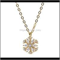 Pendant Necklaces & Pendants Jewelry Drop Delivery 2021 S925 Pure Sier Zircon Snowflake Necklace For Womens Senior Niche Design 9Tjps