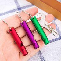 Keychain Emergency Survival Whistle Keyring Aluminum Alloy Campsite Hiking Mini Size Whistles Cheerleading Tool