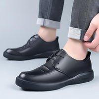 Zapatos de vestir 38-44 clásico negro hombre negocio casual planos hombre mocasines de cuero para hombres zapato de boda caballeros mocasines