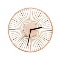 Kids Quarto de madeira relógio clássico clássico sala de estar vintage relógios nórdico orologio da parete watch watch ea60wc