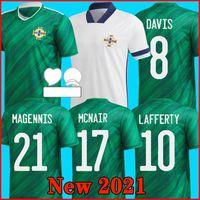 2021 북 아일랜드 축구 # 5 Evans 팀 홈 멀리 축구 유니폼 2020 21 축구 셔츠 # 8 Davis 축구 유니폼 # 10 Laffert