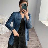 Sanzhai مطوي سترة المرأة رقيقة 2021 الربيع والصيف مزاجه سترة متعددة الاستخدامات مع قميص واقية من الشمس