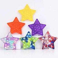 Star Squeeze Push Bubble Jogos Board Soft Silicon Fidget Brinquedos Estrelas Squishy Party Game Toy Kids Adult Stress Relief Presente