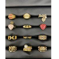Anillos de boutique D D Dijia estilo amor letra Abrir anillo abierto