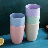 Traje de paja doméstico Agua de trigo simple Plástico Handy Cepillado Leche Copa de consumición creativa