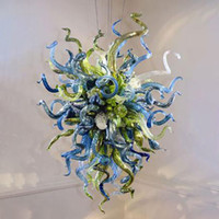 Artistic Floral Blown Glass Pendant Lamps Modern Chandelier Lights for Bedroom LED Fixtures Indoor Art Home Decoration Accessories Living Room 20 by 24 Inches