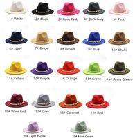 Mens Womens Wide Brim Simple Church Derby Top Hat Panama Solid Felt Fedoras Hats for Men Women Artificial Wool Blend Jazz Cap