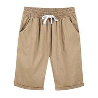Women's Shorts Summer Women Knee Length Elastic High Waist Drawstring Loose Ladies Bottoms Streetwear Female Casual