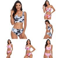 Designer women's 2021 summer swimsuit high waist printed fashion Bikini triangle tankini swim wear swimming suit ladies