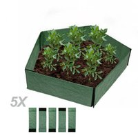 Planters & Pots PP Braided Reinforced Plastic Garden Boxes, Heavy Duty Planter Box Bed For Growing Flowers Or Vegetables