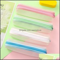 Cases Bags Supplies Office Business & Industrial16 Pcs Lot Frosted Translucent Large Capacity Bag Stationery Storage Organizer Pencil Case S