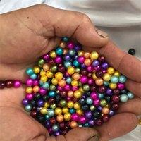 25 adet Gevşek Mini Inci 3-4mm Bebek Yuvarlak İnciler Karışık Renk Aşk Dilek Tatlısu İnciler 899 Q2