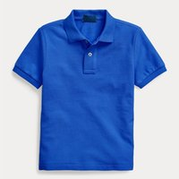 Kids Cotton Solid Polo Shirts Summer Children's Lapel Small Horse Short Sleeve Tops Homme Boy Girl Baby High Quality Sports poloshirt Clothing Age 3-12T