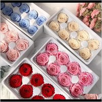 Ghirlande decorative 8pcsbox di alta qualità fiori conservati valentines immortal rose 5cm diametro diametro madri giorno vita eterna vita fiore regalo b o1zly