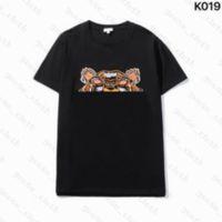 21SS MENS para mujer Diseñadores para mujer T Shirts Bordado Tigre Moda Hombres Tshirt Casual Tshirt Man Paris Francia Street Shorts Brands Sleeve Ropa Tshirts