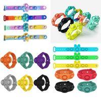 Tryck bubbla armband leksaker pussel gnagare pioneer finger musik silikon enkel dimple fidgety för barn sensory ring pressing boll armbandsur