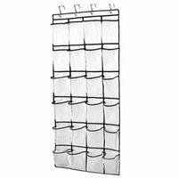 Ящики для хранения BINS 24 Pocket Booking Howing Bag Многослойное Организатор Дверь Задняя Стена Сеть Сохранить Космические Украшения Дома