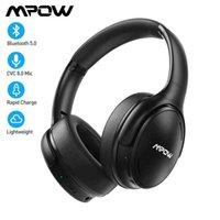 MPOW H19 sem fio IPO Bluetooth Earphones ANC Cancelamento Active Ruído Telefone com Bolsa Transporte para Huawei iphone Galaxy Telefones