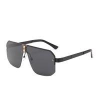 Design sunglasses goggles #597 frameless Ornamental fashion eyewear uv400 lens top quality simple outdoor unisex mask sun glasses With box