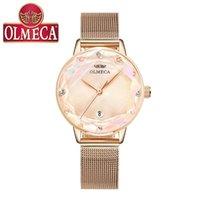 Nuova Simple Fashion Watch Lady's Lady Watch Carino Quartz Ins Style Ultrathin 10mm Acciaio inossidabile 30m impermeabile