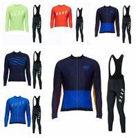 Custom Made MTB Outdoor Sports Radfahren BIB Pants Sets Heißer Verkauf MAAP-Team Radfahren Langarm Jersey BIB Pants Sets 10B2831