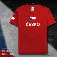 República Checa Czechia Homens Camiseta Moda Jersey Equipe Nação 100% Algodão T-shirt Vestuário Sporting Tees Tees Bandeira do País Cze X0621