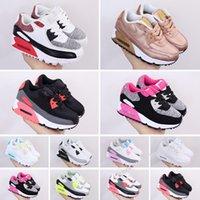 Nike Air Max 90 Vendita poco costosa bambini Sneakers Presto scarpe firmate Bambini Sports Chaussures pour enfants formatori infantile delle ragazze dei ragazzi Formato dei pattini