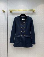 Milan Runway Jackets 2021 Otoño Invierno O cuello de manga larga con paneles de diseño de mujeres de diseño de la marca MISMO estilo ropa exterior 0822-14