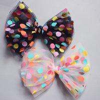Haarschmuck Kawaii Net Garn Bogen Blume Haarnadeln Set Clips Pin Bunte Punkt Barrettes Für Kinder Mädchen Prinzessin Kopfbekleidung 1469 B3