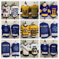 97 Thornton 88 Nylander 34 Matthews 16 Marner 11 Kopitar 99 Gretzky Best Sports Yakuda Hockey Jerseys 88 Pastrnak 79 Hart Dropshipping aceitou o melhor esporte