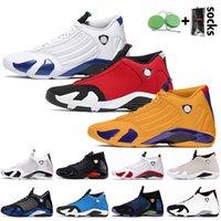 Nike Air Jordan 14 Retro 14 14s 2020 Stock x Jumpman 14 Gym Kırmızı Stok Mens X 14s basketballl Ayakkabı Üniversitesi Altın Hiper Royal Spor Eğitmenler Spor ayakkabılar