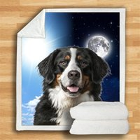 Blankets Bernese Mountain Cozy Premium Fleece Blanket 3D Printed Sherpa On Bed Home Textiles